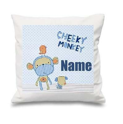 Cheeky Monkey White Cushion Cover Can Be Personalised  New Free P&p