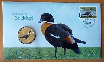 Australian Bush Waterbirds - Shelduck - 2013 Pnc Stamp And $1 Coin Covers