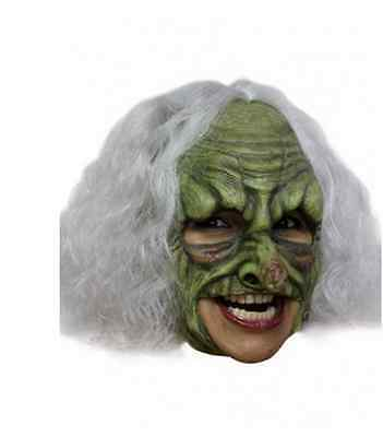 Witch Deluxe Chin Strap Latex Mask Fancy Dress Adult