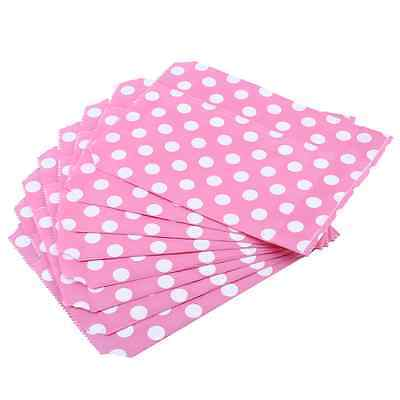 25pcs Polka Dot Wedding Birthday Sweet Candy Favour Gift Paper Bags Pink