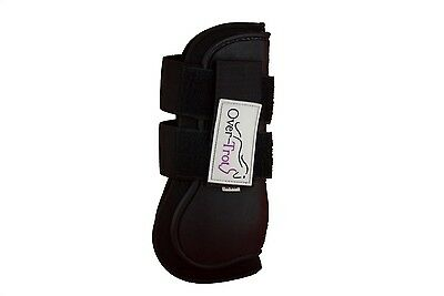Over-Trot Black Jumping Boots - Tendon - Warmblood size