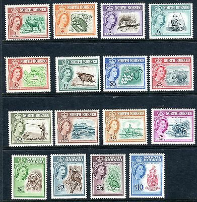 NORTH BORNEO-1961  A lightly mounted mint set to $10 Sg 391-406 V7545W