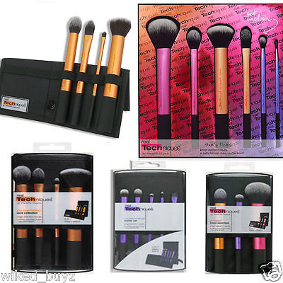 NEW Real Techniques Makeup Core Collection Starter Kit Travel Essential Brush