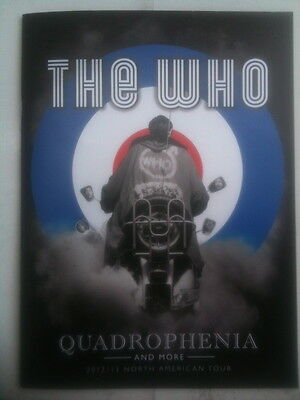 The Who - Quadrophenia Official North America Tour Book 2012 / 2013 - New