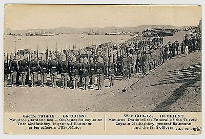 Greece WW I IN ORIENT Moudros Dardanelles Funeral Captain Medfathbey * AK u 1915
