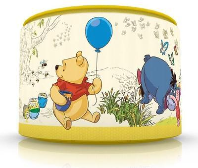 "CLASSIC WINNIE THE POOH  CEILING LAMP SHADE 11"" NURSERY KIDS yellow FREE  P & P"