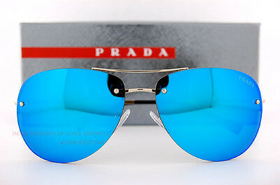 b5a2262aec ... coupon code for new prada sport sunglasses ps 50rs zvn 5m2 pale gold  blue mirror for