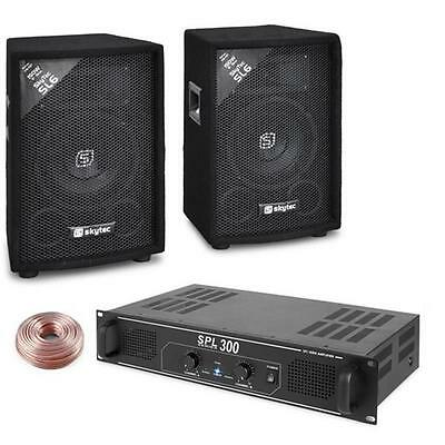 300W Disco Pa Amplifier System Dj Floor Standing Speaker *free P&p Special Offer