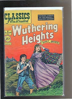 Classics Illustrated #59 HRN 60 (Original) VG Henry, Kiefer, Wuthering Heights