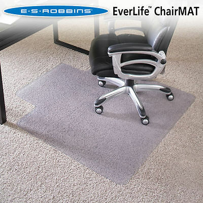 ES Robbins Chair Mat for High Pile Carpet, 46 x 60 w/Lip, Clear