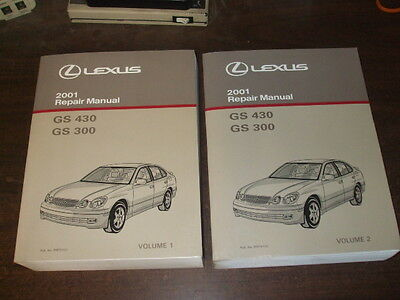 2001 LEXUS GS430 GS300 GS 430 300 Repair Manual 2 VOLUME SET Shop Service OEM