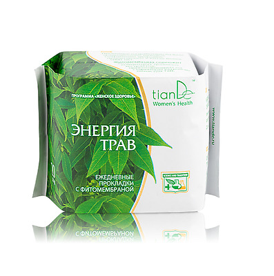 TianDe Herbal Energy Day Phyto-Membrane Panty Liners, 20 pcs.
