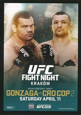 FPR-UFN 64 FIGHT NIGHT 2015 Topps UFC Chronicles FIGHT POSTER PREVIEW card