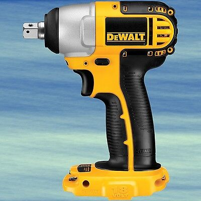 TOP DEWALT 18V 1/2-Inch Cordless Impact Wrench Driver Lightweight Compact #4632