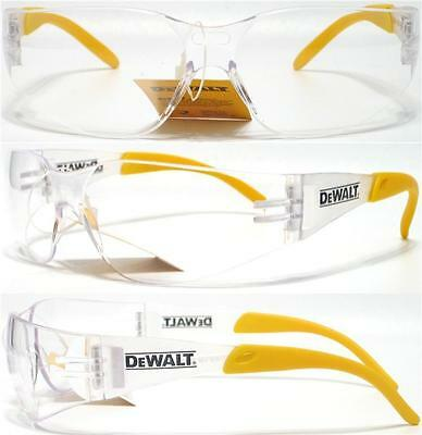 Lot of 3 Pair Dewalt Protector Clear Lens Safety Glasses Motorcycle Z87+