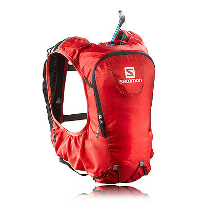 Salomon Skin Pro 10 Set Red Waterproof Running Outdoors Backpack Rucksack Bag