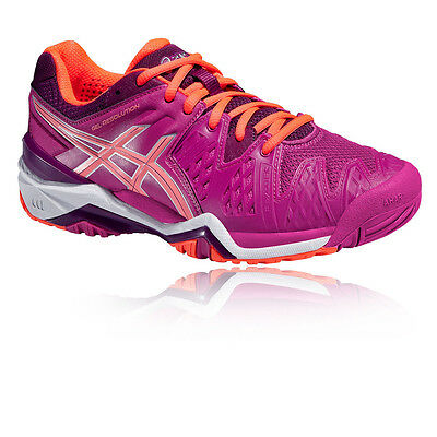 ASICS Gel-Resolution Womens Purple Court Badminton Sports Shoes Trainers