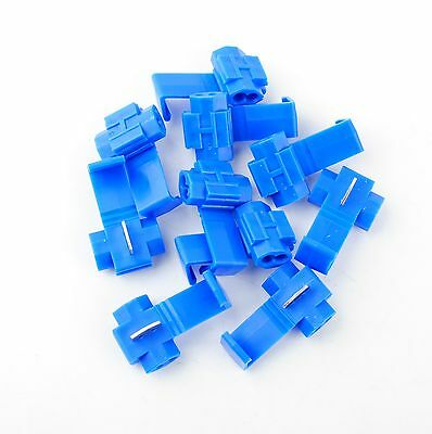 25Pcs Blue Solderless Cable Wire Quick Splice Tap Connector - 14-16 Gauge AWG