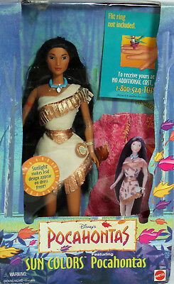 Disney Sun Colors Pocahontas Barbie 1995, NRFB Mint w/LN box - 13328