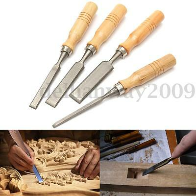 4Pcs 8/12/16/20mm Wood Work Carving Chisels Tool Set For Woodworking Carpenter