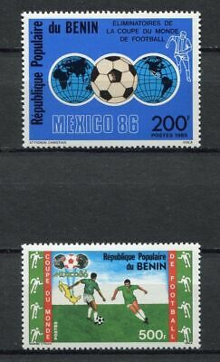 s5936) BENIN 1986 MNH** WC Football'86 - CM Calcio 2v