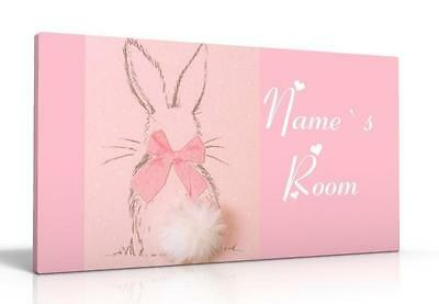 PERSONALISED DOOR SIGN / NAME PLAQUE - next`s LITTLE BUNNY FREE P&P