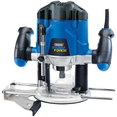 Draper 1200W Adjustable Plunge Router Cutter Electric Variable Speed & Collects
