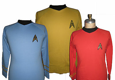 Star Trek Uniform Shirt original Serie 60er Kirk, Spock, Scotty superdelux