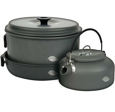 Wychwood NEW Aluminium 6 Piece Pan & Kettle Cookware Set - X0920