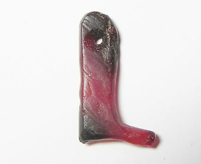 ZURQIEH - 50I- Egypt. Old Kingdom 2686 - 2181 BC,  Carnelian Foot Amulet. • CAD $1,270.25