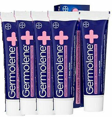 GERMOLENE Antiseptic Cream x 5 Five Pack with Local Anaesthetic 30g