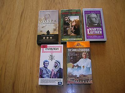 VHS Religious Movie Lot 5 movies