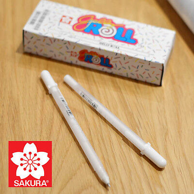 SAKURA White Silver Gold GELLY ROLL Pen Water Based Gel Ink 0.4mm Made in Japan