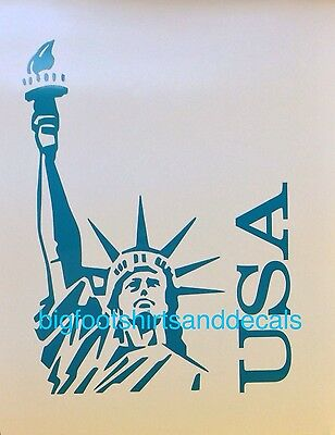 Statue Of Liberty Decal USA AMERICAN Pride NY Car Truck Vinyl Window Stickers A