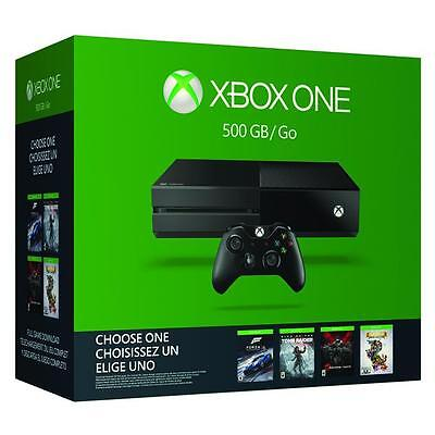 Brand New Microsoft XBOX ONE Console 500GB Name Your Game Bundle