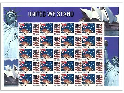 Australian - United We Stand Sheet Of 20 X 0.45 Cent Mint Stamps