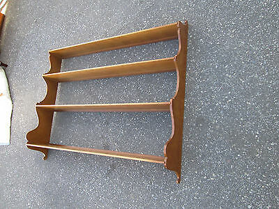 55325 Solid Maple Whatnot Shelf Bookcase Bookshelf Wall Mount Curio