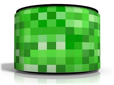 "Pixels Ceiling Lamp Light Shade 11"" Kids Room Matches Minecraft Game Free  P & P"