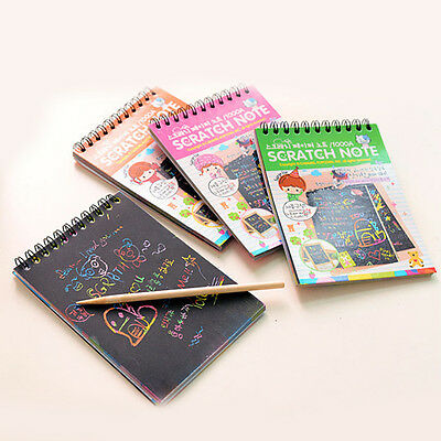 Stationery Set Notebook Scratch Stylus Scratch Paper Note Drawing Freehand Toys