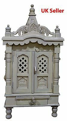 "Savan Wood Hindu Temple Sevan Wood Puja Mandir 18""(W) x 9""(D)x34.5""(H)_UK Seller"