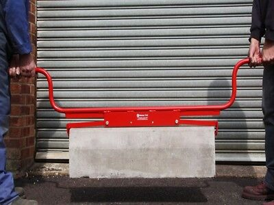 High Handle End Gripping Kerb / Slab Lifter, MUSTANG MADE IN THE UK Kerb Lifter