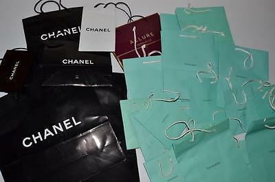 Lot Of 28 Bags Chanel Allure Tiffany & Co Black Red Blue Bags Size Small Medium