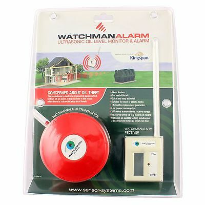 Watchman ALARM red Sonic Oil Heating Tank Level Theft Monitor indicator bunded
