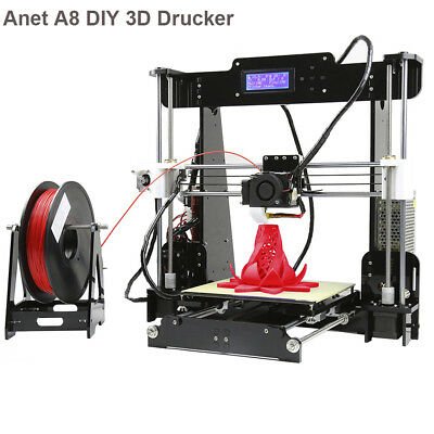 Anet A8 Desktop DIY 3D Drucker PLA ABS 1.75mm Printer Filament Reprap Prusa Kit