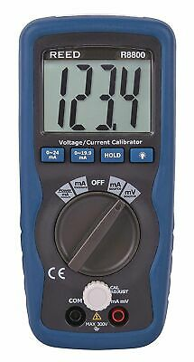 REED Instruments R8800 Voltage/Current Calibrator. 0-24mA, -199.9mV to 199.9mV