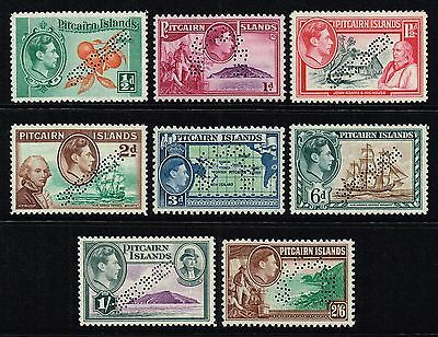 Pitcairn Islands 1940-51 King George VI set perf. Specimen, MNH (SG#1s/8s)