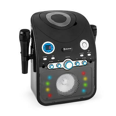 New Children Karaoke Machine Player Cd Bluetooth Led Light 2X Mics Av * Freep&p*