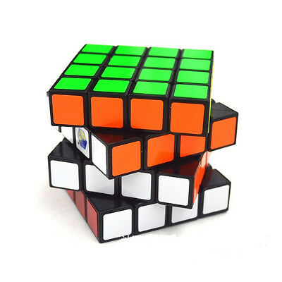 New Pro Game 4X4X4 Cube Professional ABS Twist Edge Magic Puzzle Speed Black