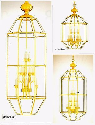 Minka Lavery POLISHED BRASS & BEVELED GLASS Pendant Chandelier 9- & 15-Light NEW
