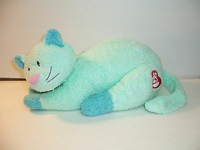 TY BABY KITTYBABY CAT - PILLOW PAL Plush w/RATTLE 2000 MINT GREEN - VGC